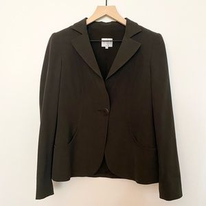 Armani Collezioni Brown One Button Blazer 6